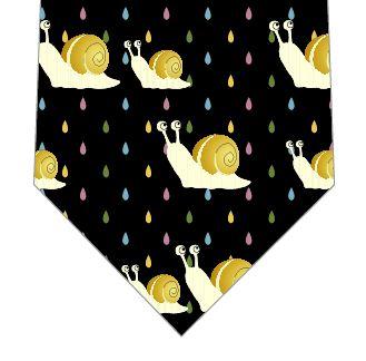 かたつむりの柄のネクタイ
