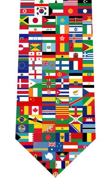 世界国旗ネクタイの写真