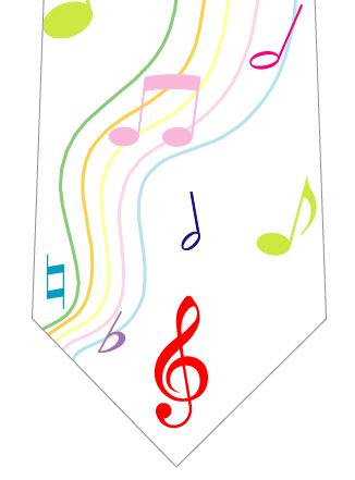 音符ネクタイの写真