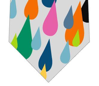 ポップな雨ネクタイの写真