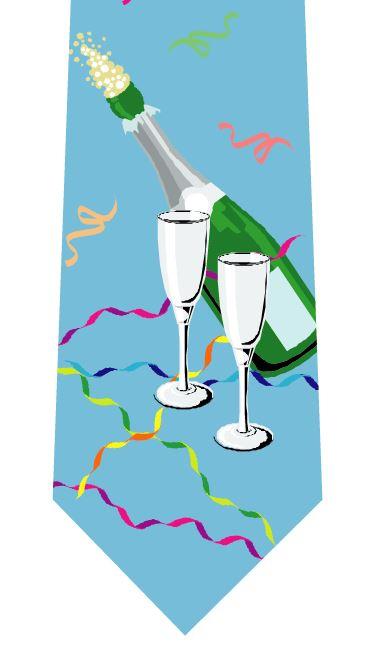 シャンパン乾杯ネクタイ