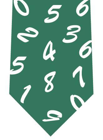 数字ネクタイ(緑)の写真