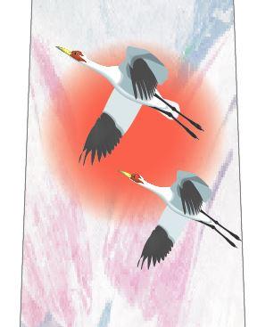 鶴のネクタイの写真